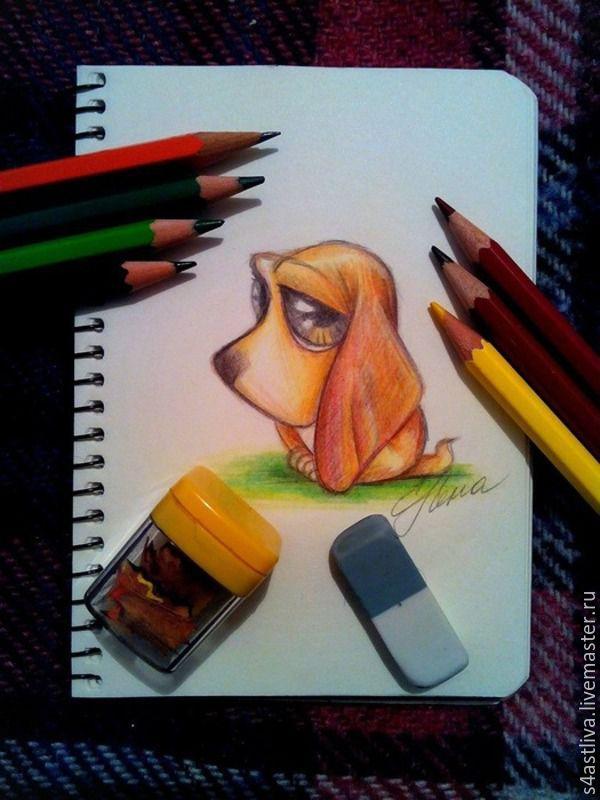 урок рисования, животные