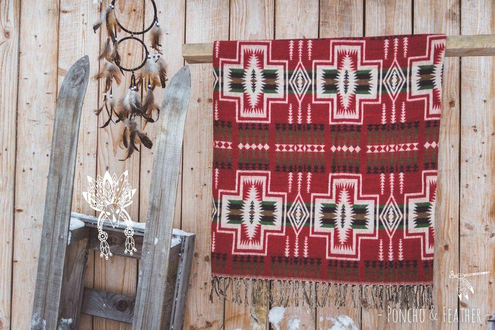 шерстяной плед, навахо, хиппи, декор интерьера, подарок девушке