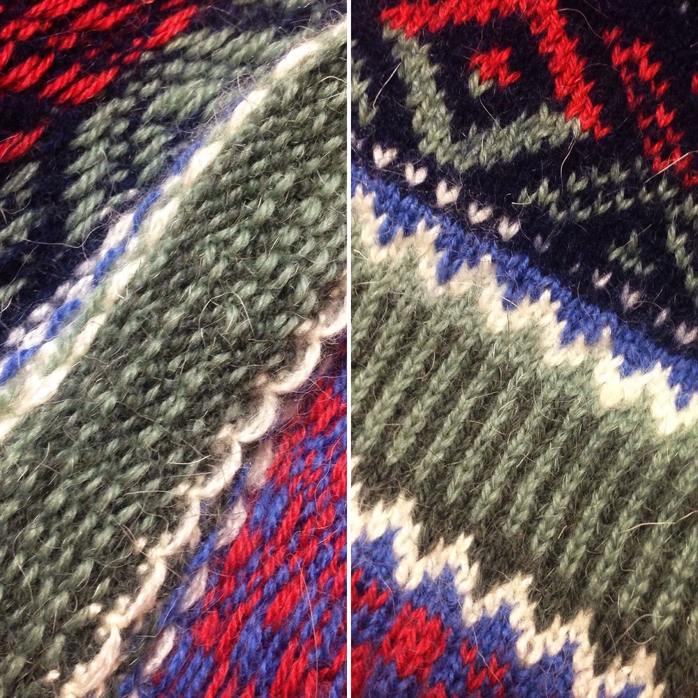 вязание, изнанка
