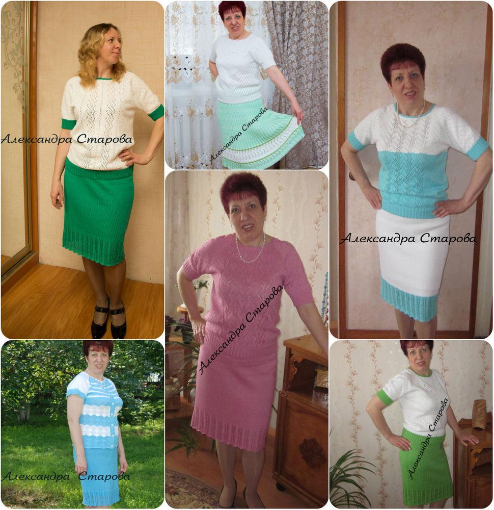 ручная работа, костюмы из хлопка, александра, для женщин