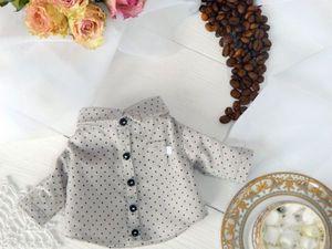 Шьем накладной кармашек для кукольной рубашки. Ярмарка Мастеров - ручная работа, handmade.