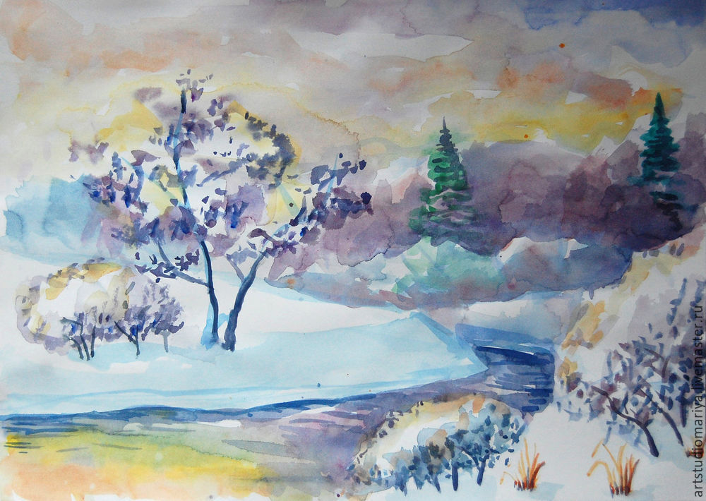 некоторые рисунок зимнего пейзажа гуашью покрытием гель-лак педикюр