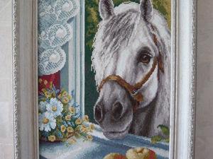 А из нашего окна лошадь белая видна.... Ярмарка Мастеров - ручная работа, handmade.