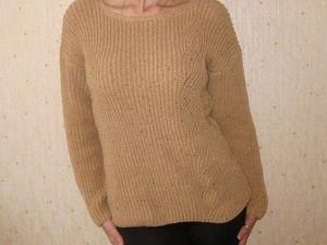 хлопковый свитер 2000(+300 доставка). Ярмарка Мастеров - ручная работа, handmade.