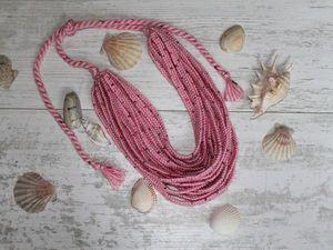 В магазине скидка на розовое колье. Ярмарка Мастеров - ручная работа, handmade.