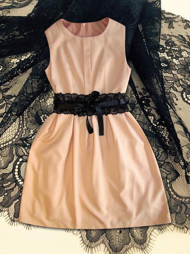 персиковое платье, платье из шерсти