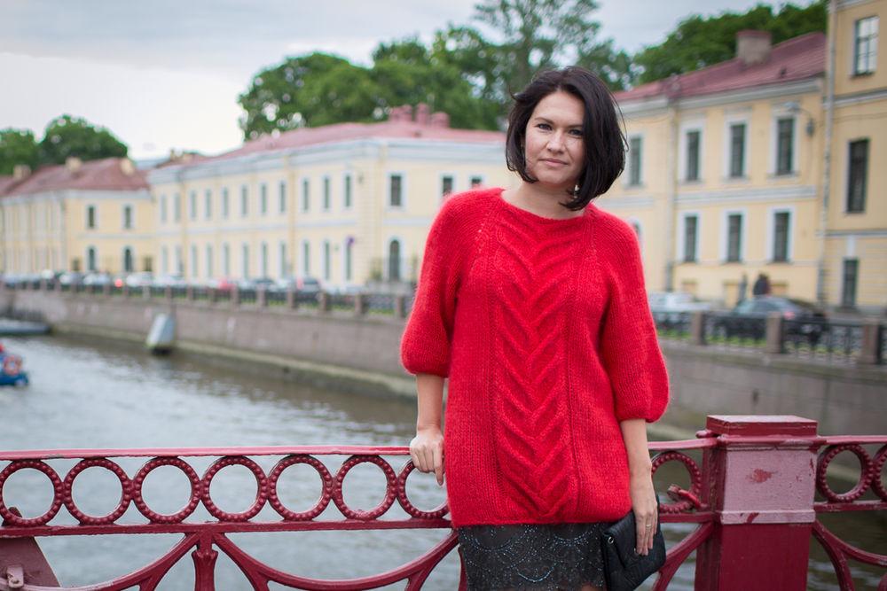 свитер спицами, style