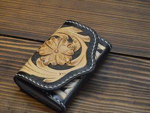 Этапы создания визитницы из кожи с тиснением. Ярмарка Мастеров - ручная работа, handmade.