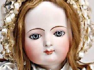 Редчайшая антикварная портретная французская кукла от неизвестного автора. 1878 г. Ярмарка Мастеров - ручная работа, handmade.