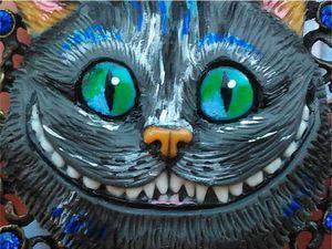 Кулон «Чеширский кот» из полимерной глины: видео мастер-класс. Ярмарка Мастеров - ручная работа, handmade.