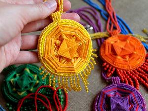 """Коллекция кулонов — мандал """"Сhakras"""". Ярмарка Мастеров - ручная работа, handmade."""