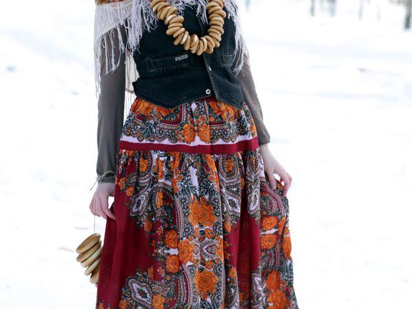 Русский платок - источник вдохновения | Ярмарка Мастеров - ручная работа, handmade