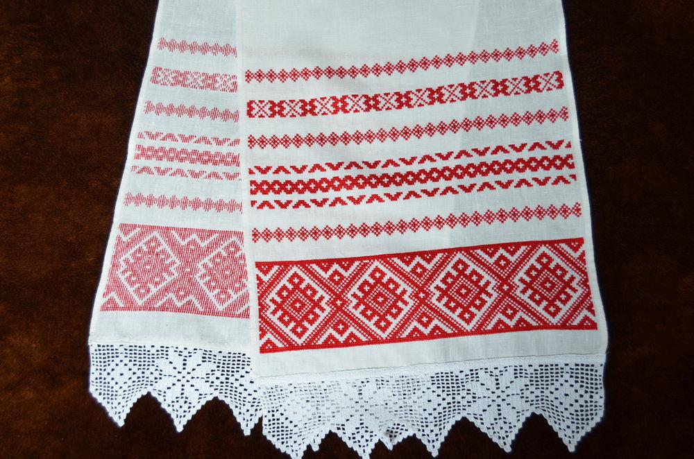 свадебный рушник, рушник с вышивкой, народный орнамент