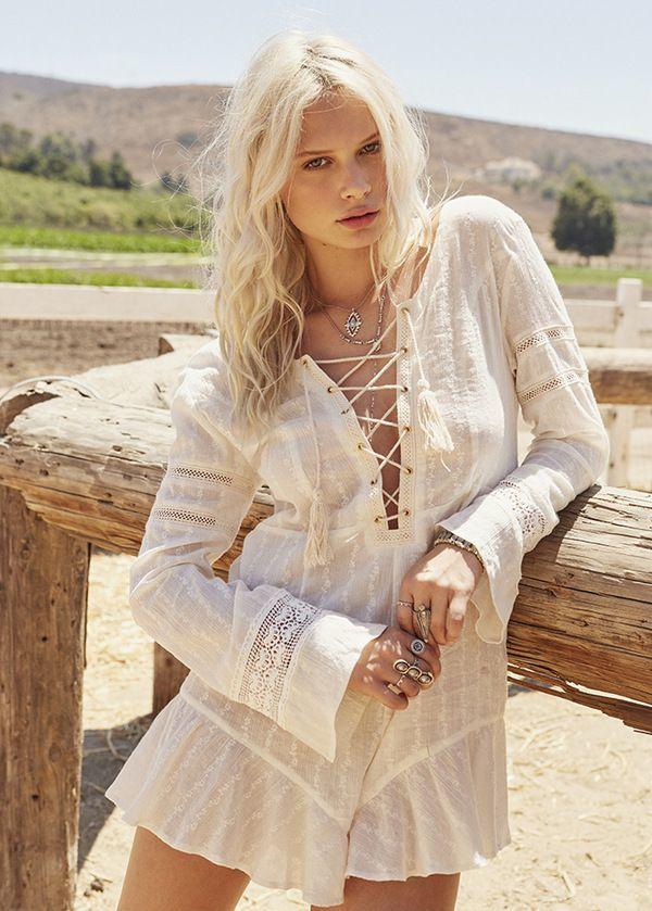 Белое бохо, или Шикарная одежда для королевы летнего пляжа, фото № 111