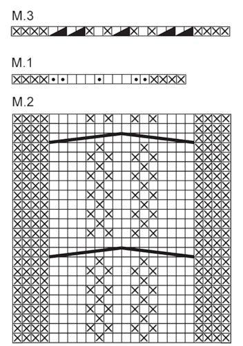 схема к повязке для головы DROPS