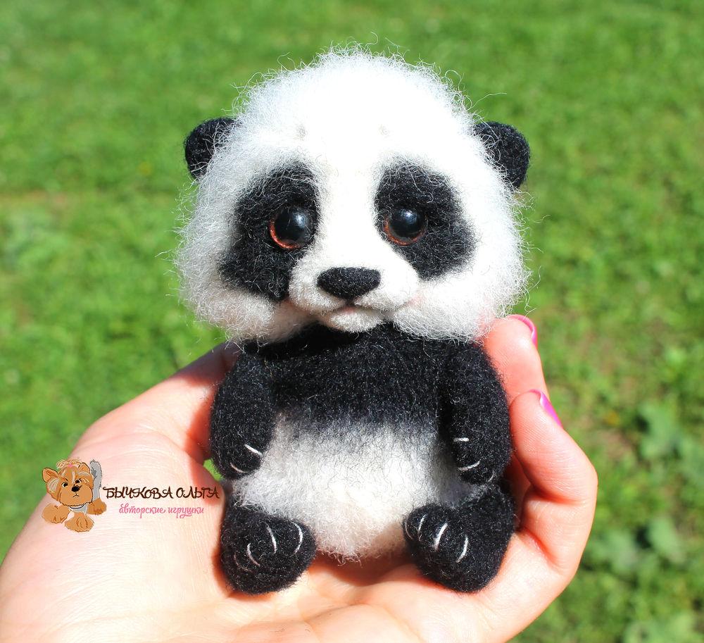 мк по валянию, обучение валянию, игрушка из шерсти, панда