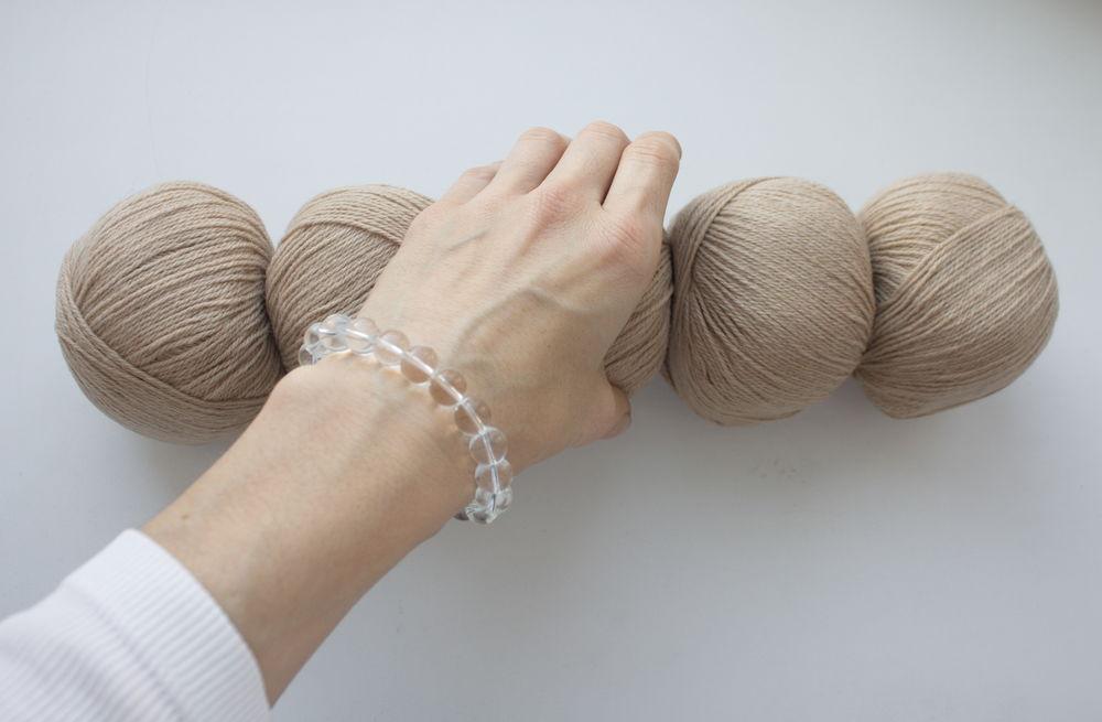 camel wool, для вязания спицами