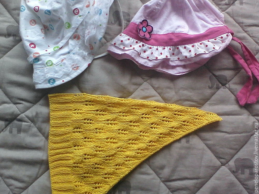 конкурс, шапочка спицами, детская пляжная мода