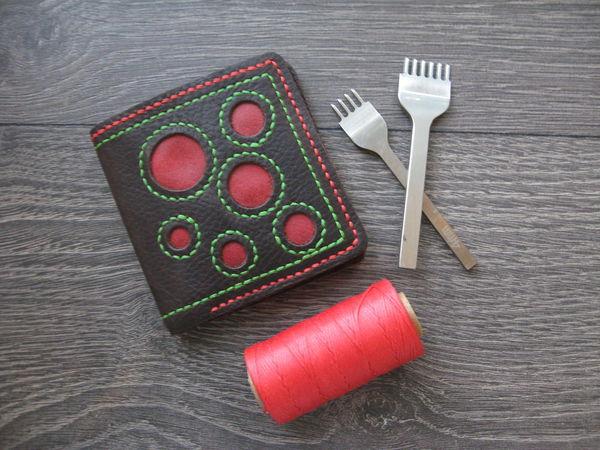 Изготавливаем кожаный кошелек   Ярмарка Мастеров - ручная работа, handmade