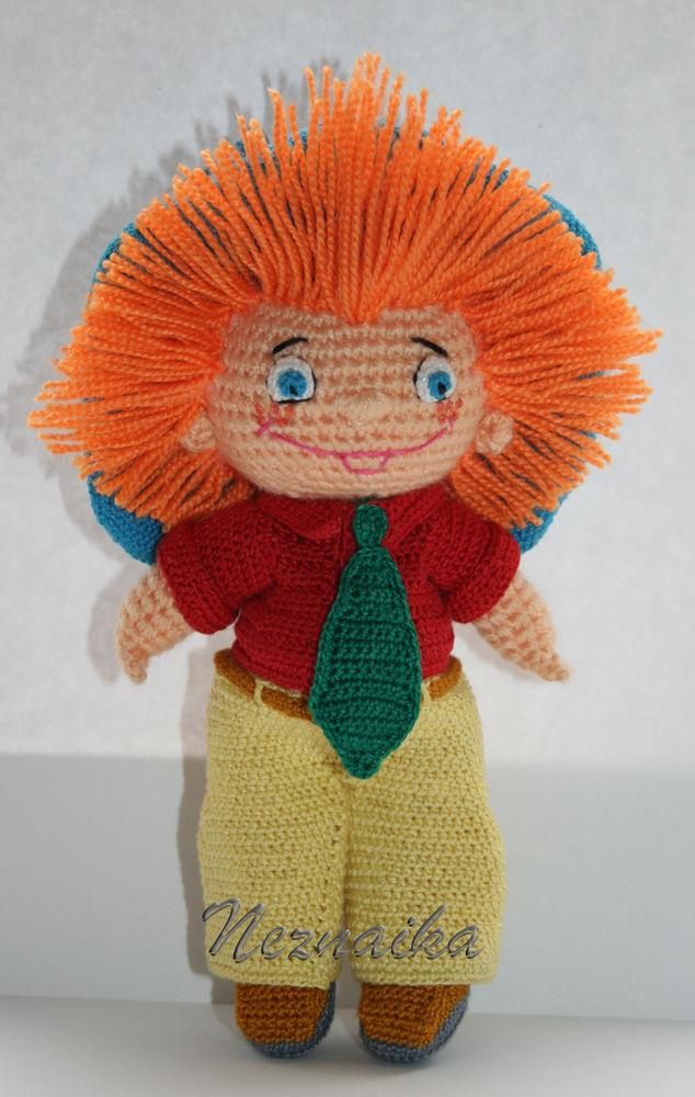 вязаная игрушка, незнайка
