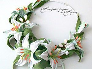 DIY Necklace for a Bride: Tenderness of Lilies. Livemaster - handmade