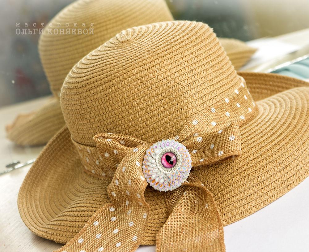 шляпа, стеклянные бусины, амулеты, как носить