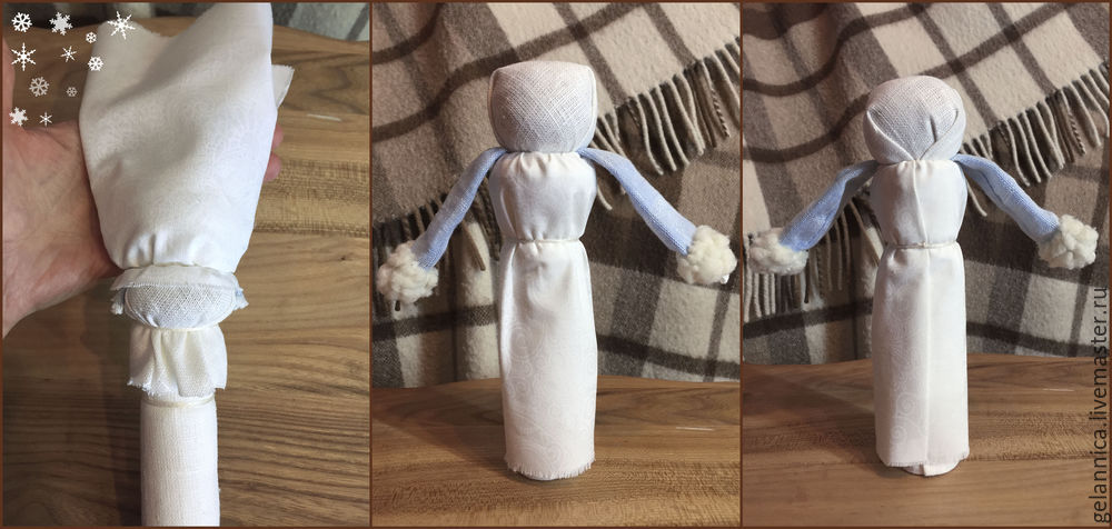 Мастер-класс: Дед Мороз и Снегурочка по мотивам народных кукол: публикации и мастер-классы – Ярмарка Мастеров