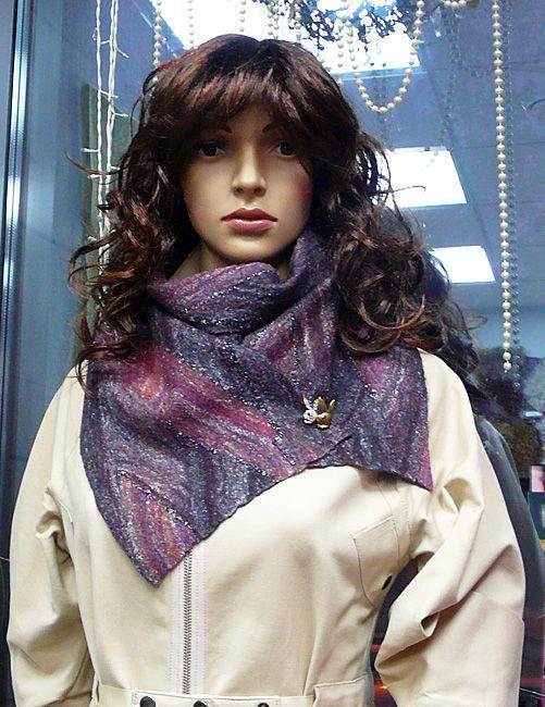 шерсть, обучение валянию, шарф, как валять шарф, женский шарф плетёнка