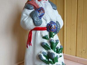 Реставрация  Деда Мороза папье маше-композит. Ярмарка Мастеров - ручная работа, handmade.