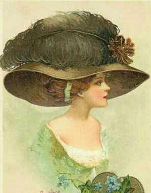 шляпки 19 века