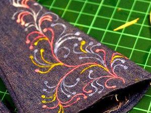 Расписываем ткань штампиками. Ярмарка Мастеров - ручная работа, handmade.