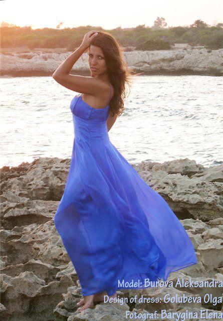 вечерние платья, шелковый атлас, аквамарин