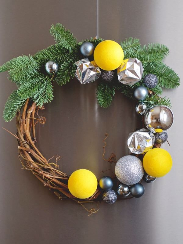 рождественский венок, новогодний венок на дверь, украшение дома