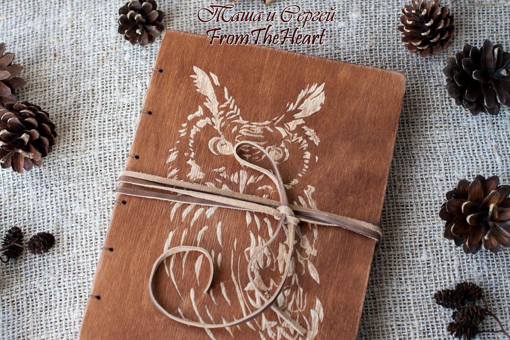 деревянный блокнот, резьба по дереву, оригинальный подарок