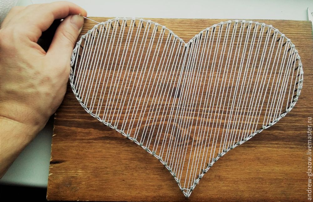 How to Make a String Art Heart, фото № 9