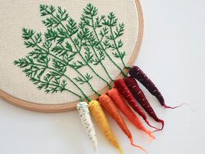 Огород на пяльцах: объемные овощи в работах Veselka Bulkan. Ярмарка Мастеров - ручная работа, handmade.
