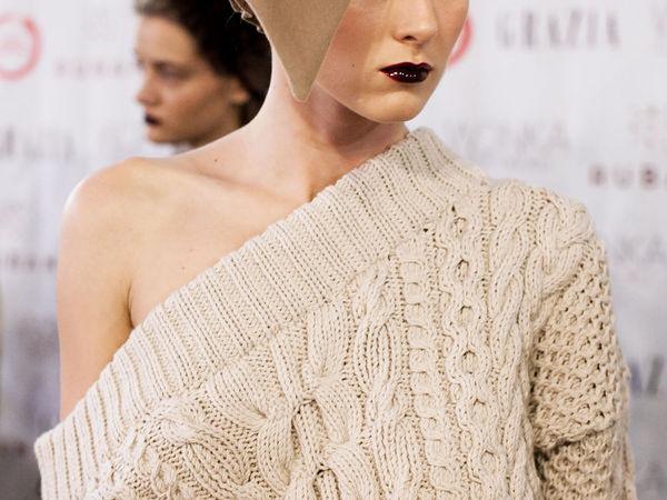 Эффектные крупные узоры и свободные силуэты: 30 модных вязаных вещей | Ярмарка Мастеров - ручная работа, handmade