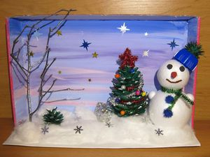 Мастерим зимнюю композицию в детский сад. Ярмарка Мастеров - ручная работа, handmade.