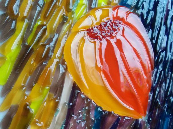 Осеннее вдохновение: создаем панно из стекла в технике «фьюзинг» | Ярмарка Мастеров - ручная работа, handmade