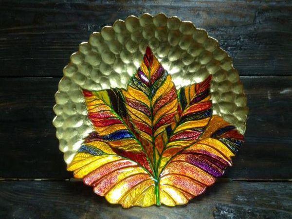Роспись стекла с золочением - делаем бесподобную тарелку!   Ярмарка Мастеров - ручная работа, handmade