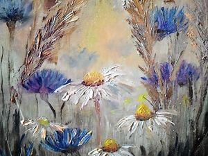Видео-урок по живописи «Полевые цветы». Часть 2. Ярмарка Мастеров - ручная работа, handmade.