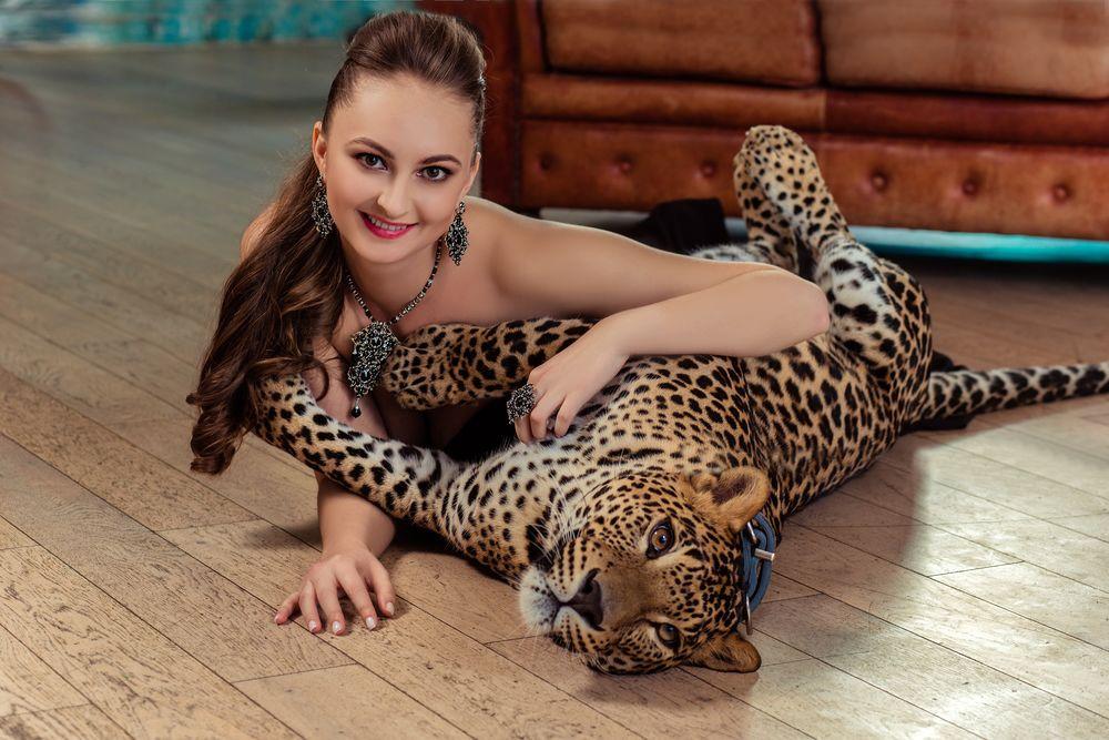 башмак фотосессия с леопардом покупке автомобиля