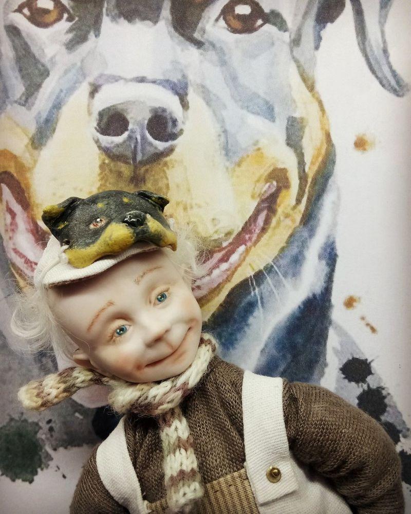 фарфор, собака, маска, новый год