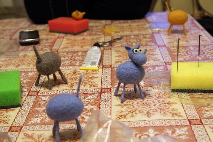 валяные игрушки, лошадь