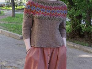Новый свитер в бохо-фольк-стиле. Ярмарка Мастеров - ручная работа, handmade.