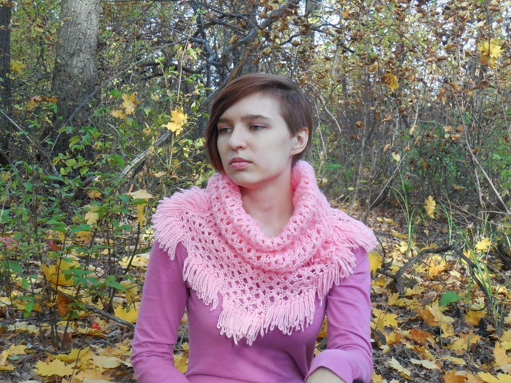 осень, шарф-труба