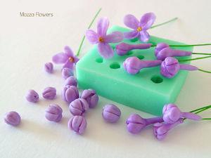 Как лепить цветок и бутоны сирени с помощью молдов.. Ярмарка Мастеров - ручная работа, handmade.