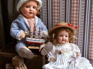 Инсталляция из антикварных кукол Дети адмирала Ланге. Ярмарка Мастеров - ручная работа, handmade.