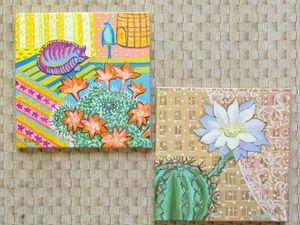 У меня зацвели кактусы! | Ярмарка Мастеров - ручная работа, handmade