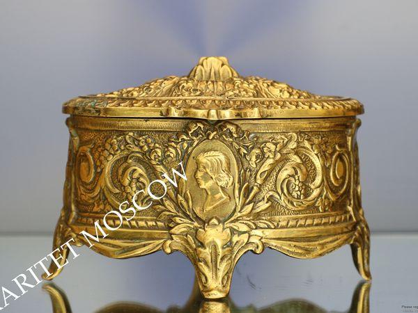 Раритетище Шкатулка антикварная бронза Dinant Бельгия 16 | Ярмарка Мастеров - ручная работа, handmade